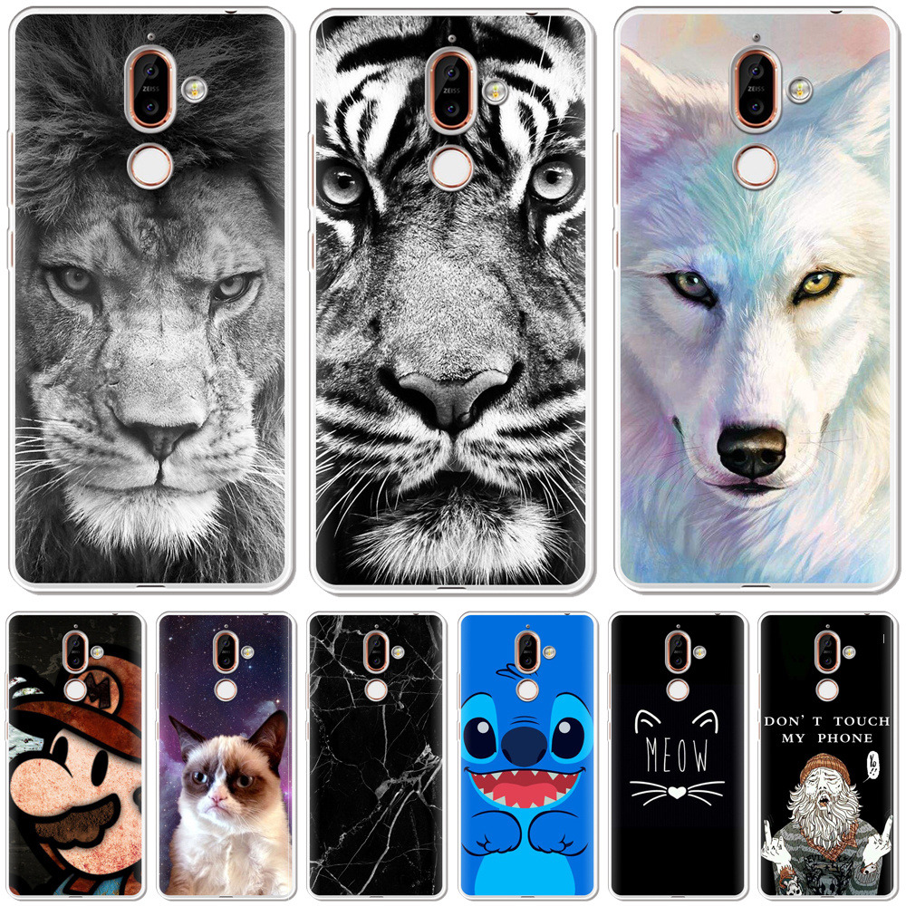 Cartoon Printed Phone Case For <font><b>Nokia</b></font> 7.1 6.1 5.1 3.1 <font><b>2</b></font>.1 <font><b>2</b></font>.<font><b>2</b></font> 3.<font><b>2</b></font> 4.<font><b>2</b></font> Case Soft Silicone For <font><b>Nokia</b></font> 8 7 6 5 3 <font><b>2</b></font> 1 Plus <font><b>Back</b></font> <font><b>Cover</b></font> image