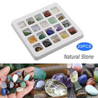 20pcs Natural Mineral Gemstone Rocks Irregular Tumbled Mini Ores Science Stone Collection Supplies Decoration Crafts Set Gift