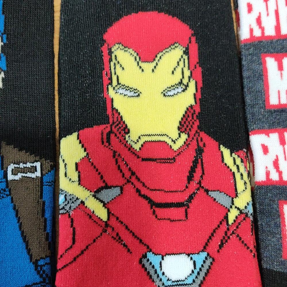 Image 5 - 10 Pairs/Pack Comics Hero General Socks cartoon Iron Man Captain America Knee High Warm Stitching pattern increase size Big SockMens Socks   -