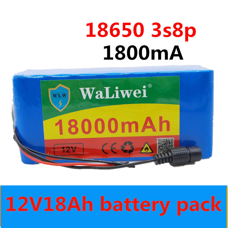 12V18Ah <font><b>Battery</b></font> pack High Quality Super Rechargeable Portable <font><b>Lithium</b></font>-ion <font><b>Battery</b></font> DC <font><b>12V</b></font> 18000mAh 12.6v <font><b>18Ah</b></font> <font><b>battery</b></font> pack image