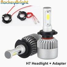 цена на led H7 headlight bulb h7 led kit retainer holder for Volkswagen golf 5 car led headlight H7 adapter for VW MK2 jetta