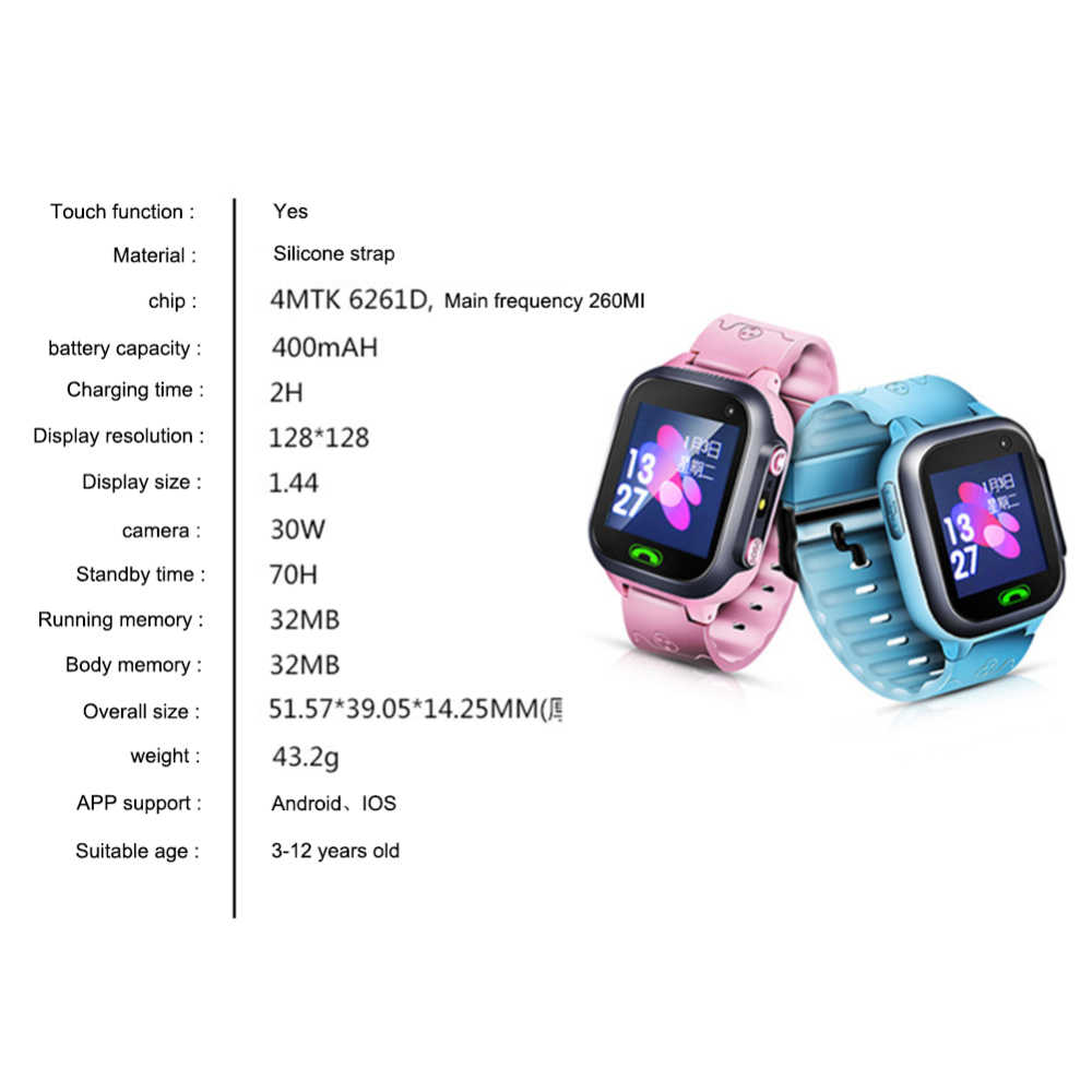 Kids Smart Watch Wifi GPS Tracker Smartwatch Kids 2g Watch Phone Video Call Waterproof Smart Watch for Child Clock PK Q50 Q90