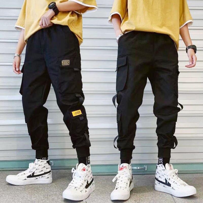 Spring Summer Bib Overall Men's Popular Brand INS Students Korean-style Casual Pants Men Trend Harem Beam Leg Capri Pants Sub-