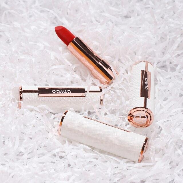 O TWO O pcs set Semi Velvet Lipstick Moisturizing Waterproof Nude Color Makeup Kit