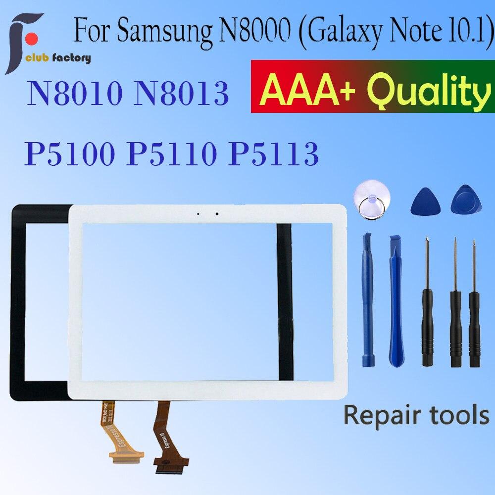 Новинка для Samsung Galaxy Tab 2 N8000 P5100 P5110 N8010 N8013 сенсорный экран дигитайзер Сенсорная панель объектива в сборе Переднее стекло ЖК-дисплей