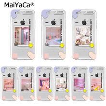 купить For iphone 11Cute pink girl loves you Colorful Phone Accessories cover for Apple iPhone 8 7 6 6S Plus X XS max 5 5S SE XR Cover дешево