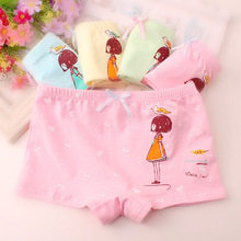 4pcs/set Cotton Boxer Briefs Girls Underwear princess Children Kids Baby Panties Wholesale 19cm-27cm