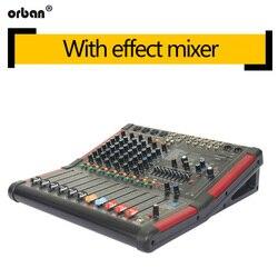 8-kanał Bluetooth mikser profesjonalny podwójny grupy 99-efekt mikser występ na scenie domu