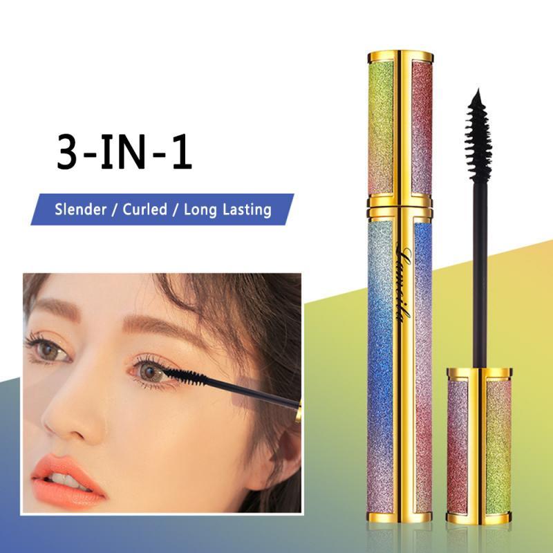 4d Silk Fiber Mascara Lengthening And Easy To Dry Natural Soft Long Eyelash Makeup Mascara Black Thick Eyelash Cosmetics TSLM1