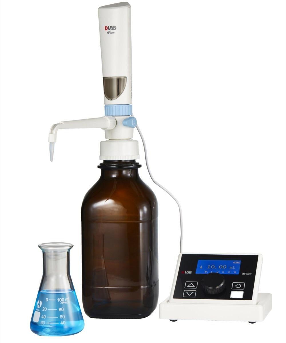 Digitale Parte Superiore della Bottiglia Dispenser DLab dFlow Senza Marrone Bottiglia di Reagente Elettronico Titolatore 0.01-99.99ml Lab Tool Kit Drago lab