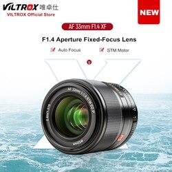 Viltrox AF 33 мм f1.4 STM APS-C объектива с автофокусом для беззеркальной камеры Fuji X-mount X-T3 X-H1 X20 X-T30 X-T20 X-T100
