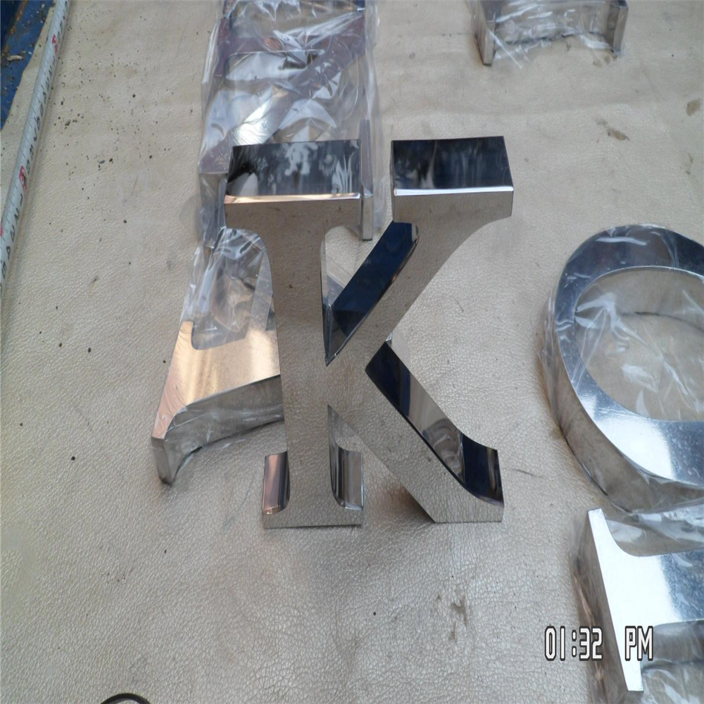 Outdoor Fine Workmanship Stainless Steel Letters Sign, Mirror Polished Stainless Steel Company Name Letter Signages