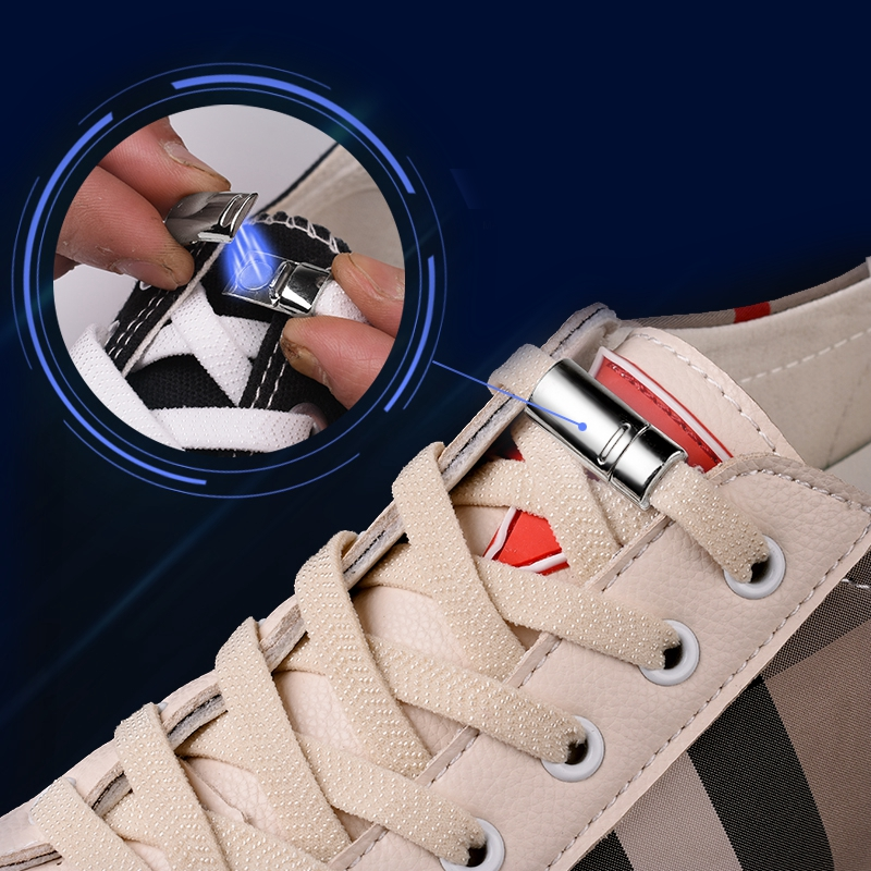 Magnetic Shoelaces Elastic 1 Second Locking Shoe Laces No Tie Leisure Sneakers Flat Shoelace New Creative Simple Lazy Laces