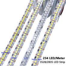 Luz de fita conduzida branca morna 12 v do diodo emissor de luz do branco para o quarto da sala 2835 diodos emissores de luz 12 v do diodo emissor de luz do volt 300 smd 600 1200 2400 480