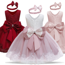 Lace Dress Birthday Baby-Girls 2-Years-Old Clothing Christmas-Party Toddler Kids Children