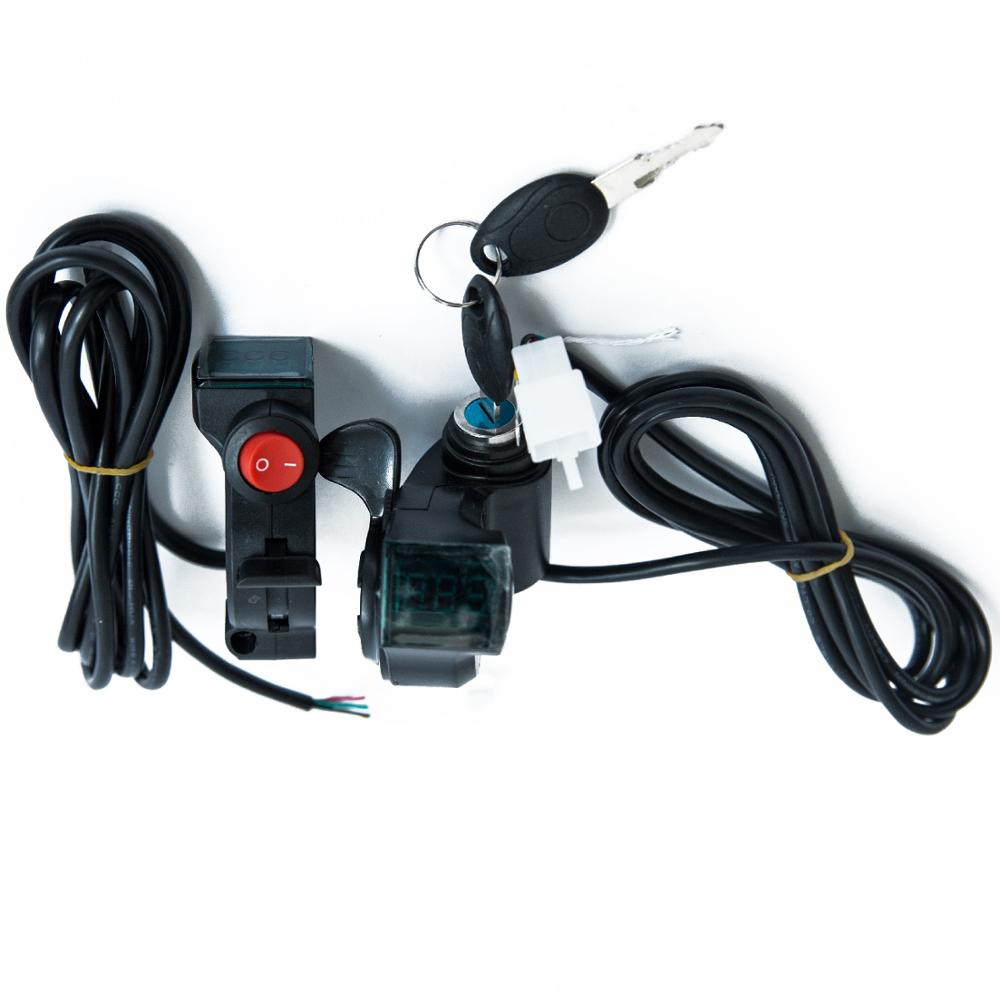 E Bike Scooter Accessories Thumb Reverse Accelerator Throttle With Power Indicator Display