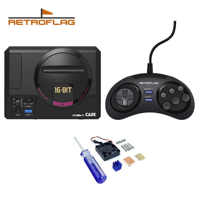 Retroflag MEGAPi Case for Raspberry Pi 3 B Plus (3B+) / 3B / 2B Classic USB Wired Controller for Raspberry Pi, Windows, Switch