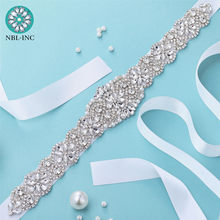 Cinturón de novia con diamantes de imitación, accesorio de boda con diamante de cristal para bodas, vestido con cinturón Ceñidor, WDD1043, 1 ud.