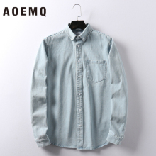 AOEMQ Sports 3 Colors Solid Casual Cloth Jackets Autumn Men Shirts Unisex High Street Cardigan Clothing