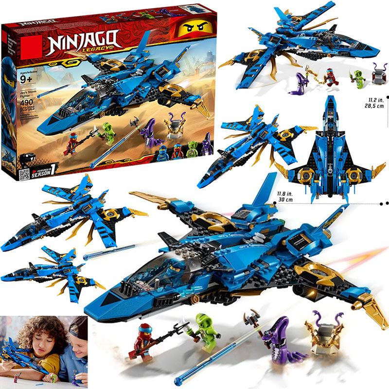 2019 new Ninja Jay's Storm Fighter Building Blcoks Toys Figures for Children Gift Compatible <font><b>Ninjagoed</b></font> <font><b>70668</b></font> 549Pcs image