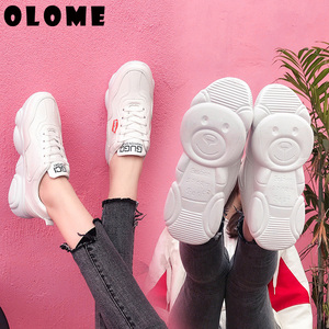 Image 2 - Womens Sneakers New Korean Version With Breathable Bear Bottom old Shoes Super Fire Sports Shoes Female Small White Shoes Women