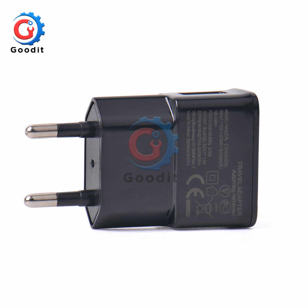 5V 2A EU Plug Adapter White Black USB Wall Charger Fast Charge Travel Power Adapter for Smartphone Input 100-240V 0.35A