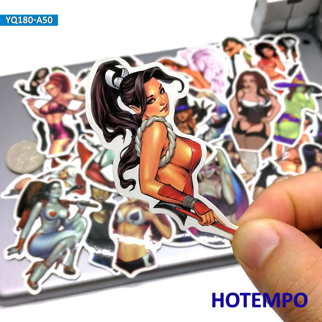 50pcs Sexy Girls Angel Anger Devil Woman Beauty Lady Stickers For Mobile Phone Laptop Luggage Guitar Skateboard Anime Stickers