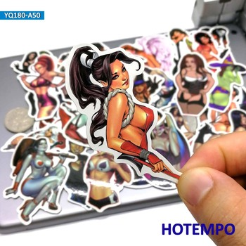 50pcs Sexy Girls Angel Anger Devil Woman Beauty Lady Stickers for Mobile Phone Laptop Luggage Guitar Skateboard Anime - discount item  30% OFF Classic Toys