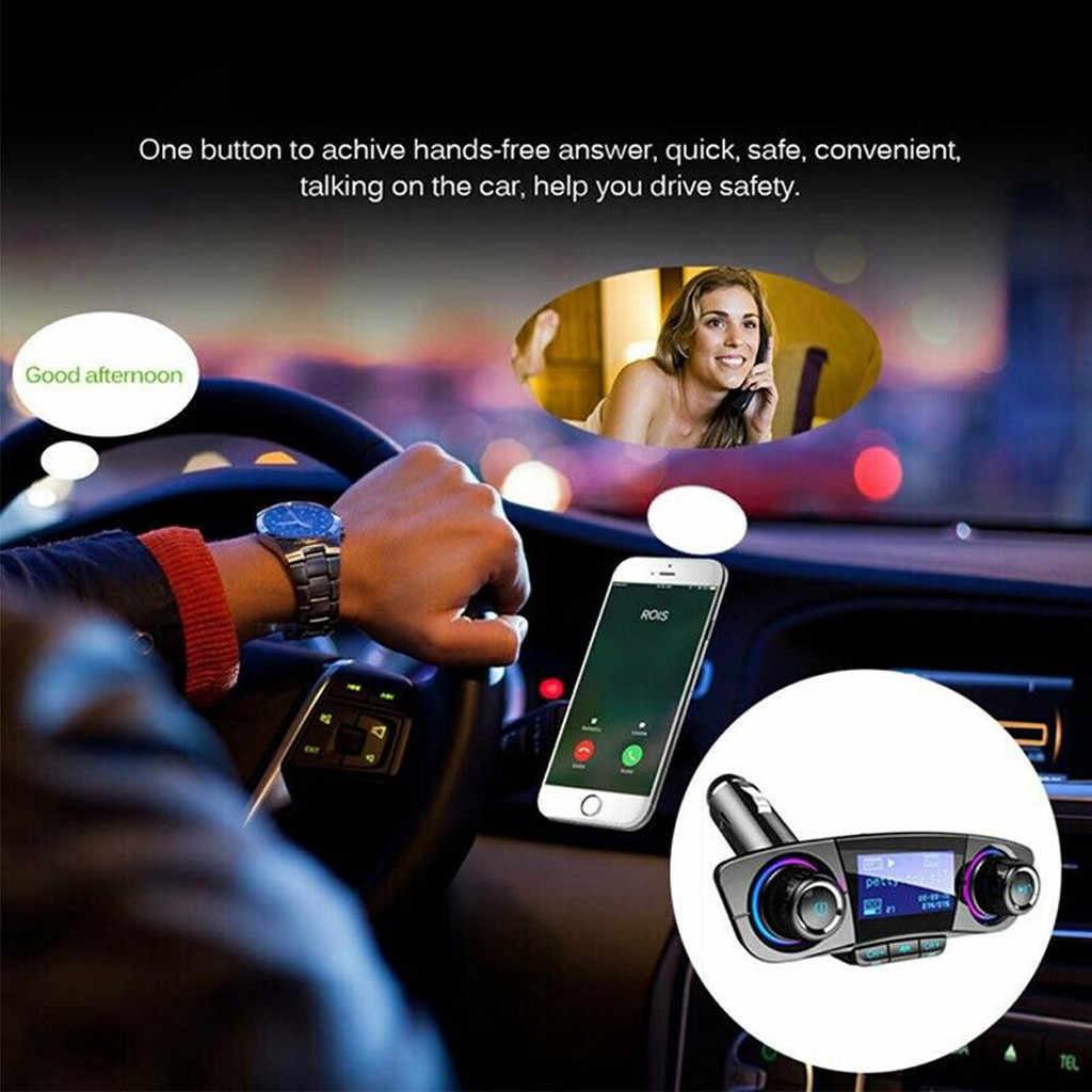 Bt カー FM トランスミッタ MP3 プレーヤーハンズフリーラジオアダプタキット USB 充電器 2019 新到着ファッション