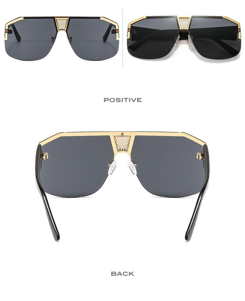 New Shield Gradients Sunglasses Men Women Fashion Trend Luxury Color Lens PC Frame Quality Brand Designer Sun Glasses CLOVER JEWELLERY