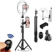 Lampe annulaire grande pour la prise de vue lumière annulaire Led support Selfie Kit d'éclairage de Photo trépied de 2m pour caméra d'action de téléphone vidéo Youtube