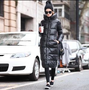 Image 4 - 2019new Slim était בשר טחון femmes נואר à capuche doudoune גרוס mètres épais manteau