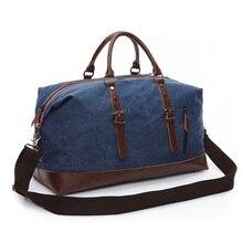 Scione الرجال قماش السفر حقائب الكتف الأمتعة سعة كبيرة حقيبة يد الأعمال عادية خمر جلدية بسيطة حمل حقيبة للنساء