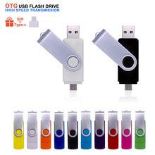 OTG 3 In 1 Metal Flash USB sürücü 2.0 ve tip-c yüksek hızlı kalem sürücü 4GB 8GB 16GB 32GB 64GB Pendrive Cle USB bellek çubuğu hediye için