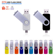 OTG 3 In 1 Metall-Stick USB 2,0 & Typ-C High Speed Pen Drive 4GB 8GB 16GB 32GB 64GB Stick Cle USB Memory Stick für Geschenk