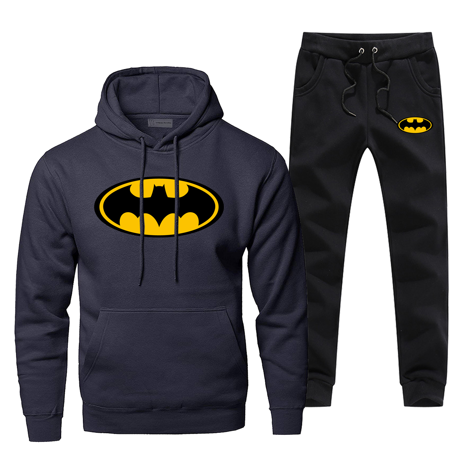Batman Print Fashion Men's Full Suit Tracksuit Superhero Bat Man Sweatpants Fitness Warm Streetwear Hoodies For Men 2 Piece Set