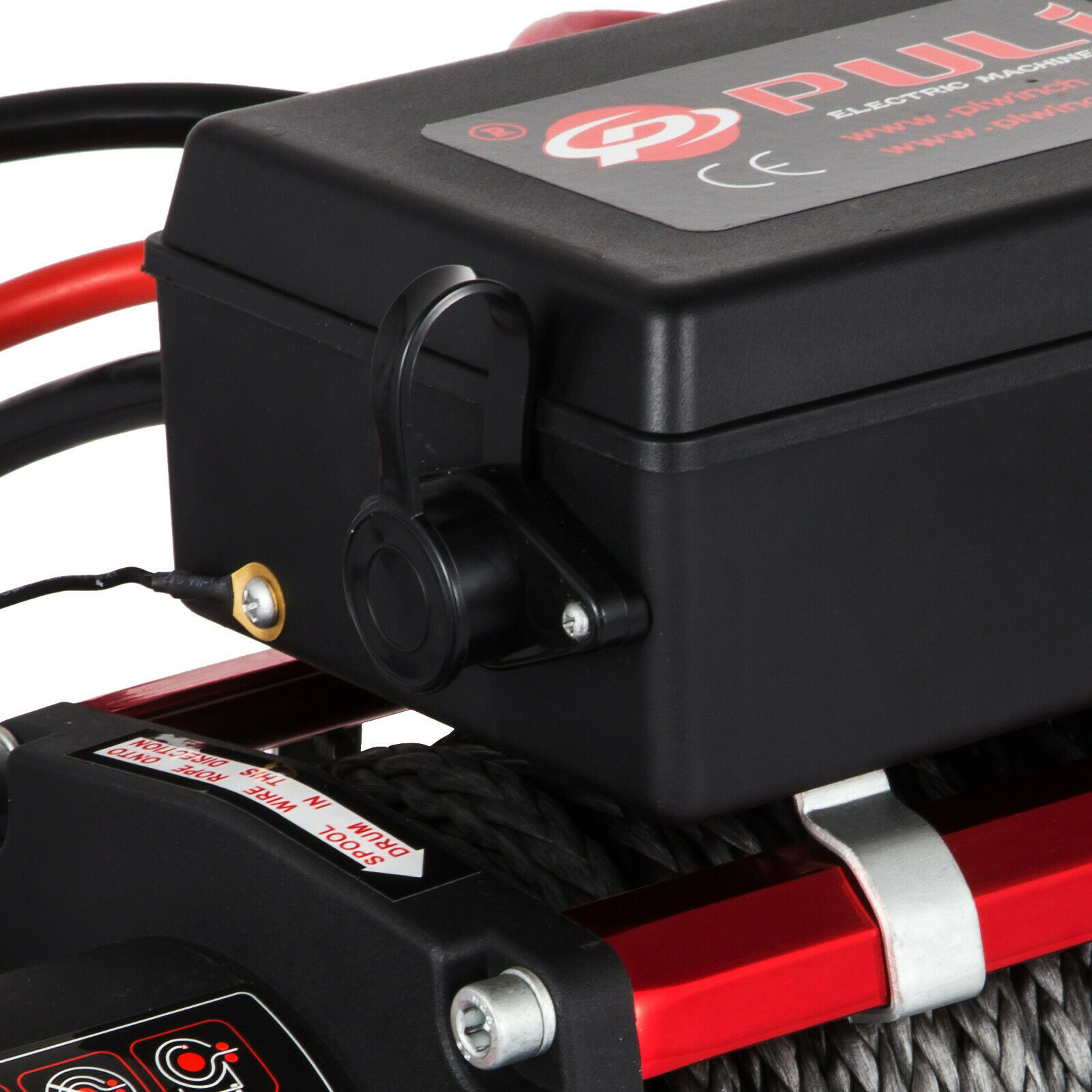 Synthetic-Rope Remote-Control Atv-Recovery-Winch 13500LBS 12v with for UTV 6120-Kg