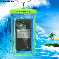 KEYSION-bolsa impermeable IPX8 para teléfono móvil Samsung, Xiaomi redmi, funda de natación subacuática luminosa para Huawei, iPhone y OPPO