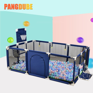 Kids Playground for Babies Fence Baby Playpen for Children Ball Pool Baby Playground with Basketball Railing Baby Safety Barrier