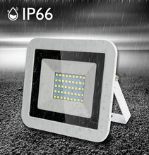 Белый корпус прожектор ультра тонкий светодиодный прожектор прожектор открытый 220В IP65 для садовой дорожки уличные ворота настенный светильник заливающего освещения