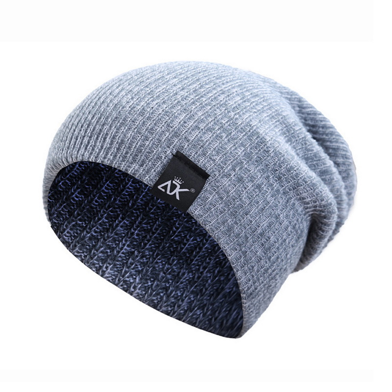 Winter Cap Knitted-Cap Wool-Cap Hip-Hop Candy Autumn Striped Outdoor Para Gorras Men