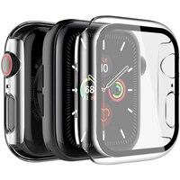 Placcatura Temperato Protezione Dello Schermo di Vetro Per iwatch di Apple Serie di Orologi 6 5 4 3 2 SE 40 44 millimetri 44mm 40 millimetri 42 millimetri 38 millimetri Pellicola di Protezione