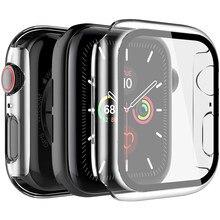 Chapeamento de vidro temperado protetor de tela para iwatch apple assistir série 6 5 4 3 2 se 40 44mm 44mm 40mm 42mm 38mm película proteção