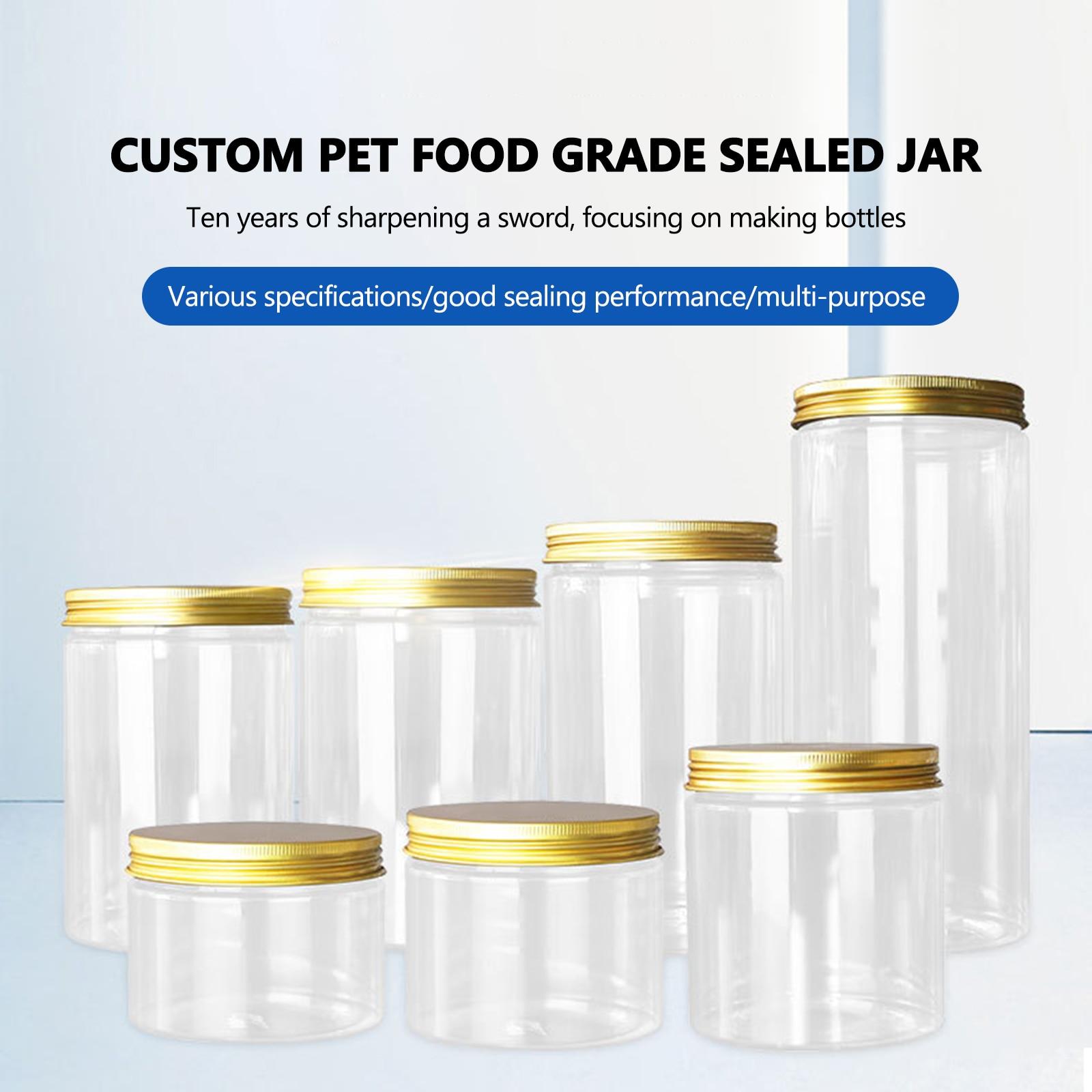 80ml/140ml/180ml/250ml/500ml Plastic Jar With Lid Screw Iron Transparent Container Empty Cosmetic Cream Powder Jar Vanity Box