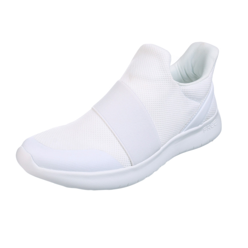 Slip-on White Sports Shoes Women Memory Foam Gym Fitness Shoes Summer Lightweight Breathable Mesh Flat Sneakers Female 2019 New
