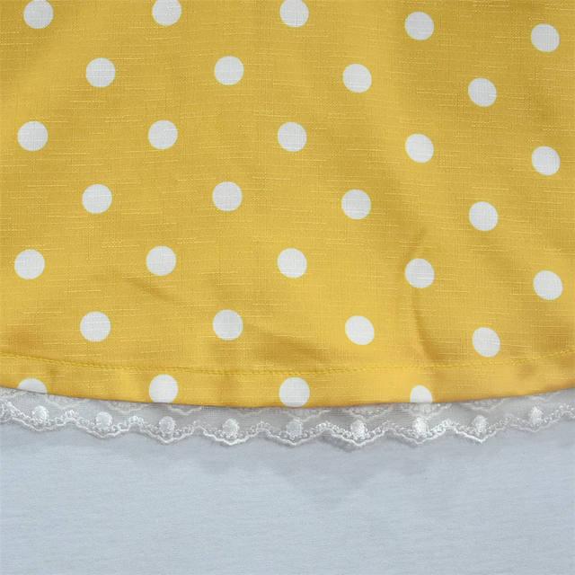 Girls Colorful Polka Dot Printed Dress