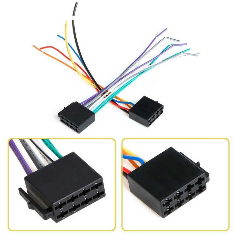 1Pair Universal Female ISO Wiring Harness Car Radio Adaptor Connector Wire Plug Kit Jy25 19 Droship