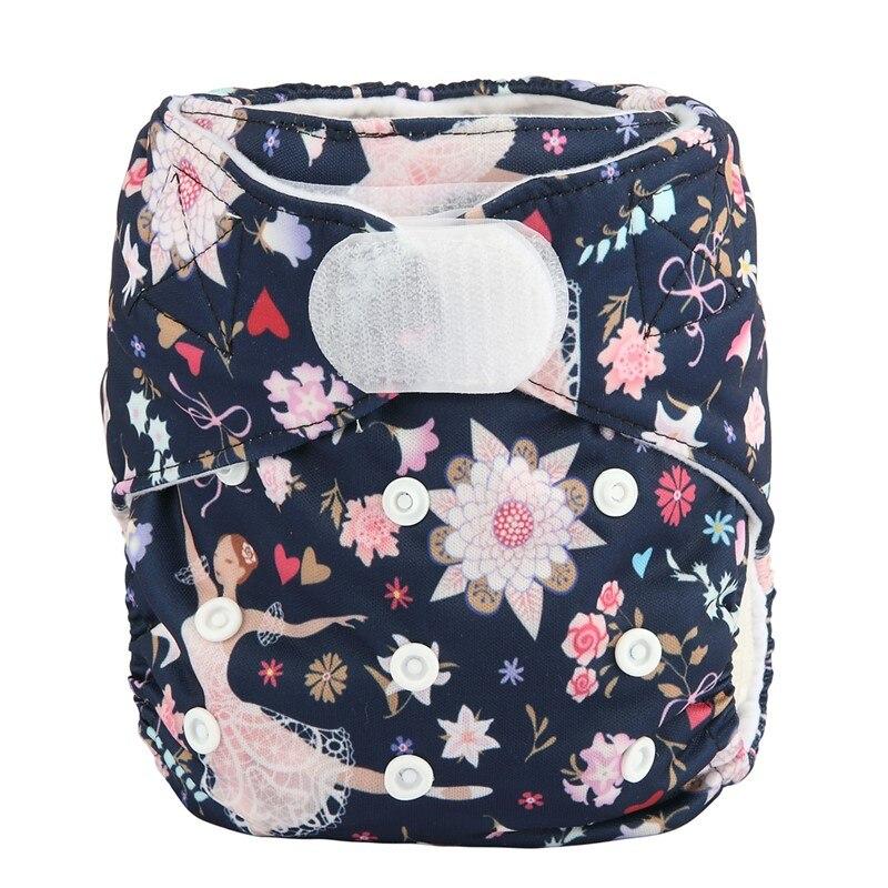 [Sigzagor] 1 тканевый подгузник с карманами для детей, подгузник с застежкой-липучкой, с широкими полосками на талии - Цвет: DV25
