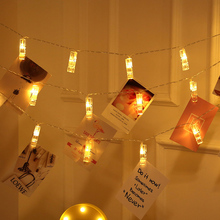 1M 2M 3M 4M 6M 10M Photo Clip USB LED String Lights Battery Operated Fairy Garland Christmas Indoor Decoration Party Xmas