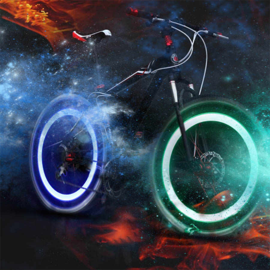 2PCS אופני מכונית אופנוע גלגל בצור Valve שווי פלאש LED אור מנורת כובעי על רכב גלגלי צמיגי אביזרי אוטומטי רכב סטיילינג
